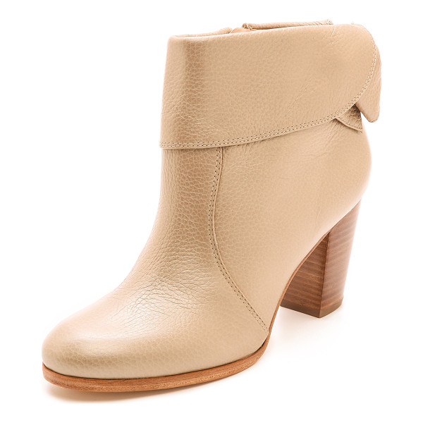 KATE SPADE NEW YORK Lanise bow back booties - A bow adds subtle, feminine charm to pebbled leather Kate...