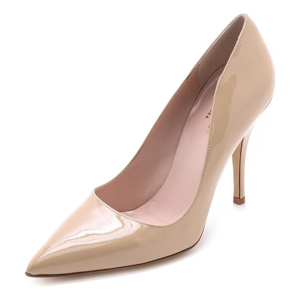 KATE SPADE NEW YORK licorice pumps - These versatile Kate Spade New York pumps are made from