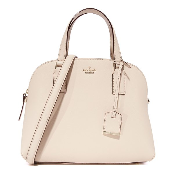 KATE SPADE NEW YORK cameron street lottie satchel - A saffiano-leather Kate Spade New York bag in a structured,...