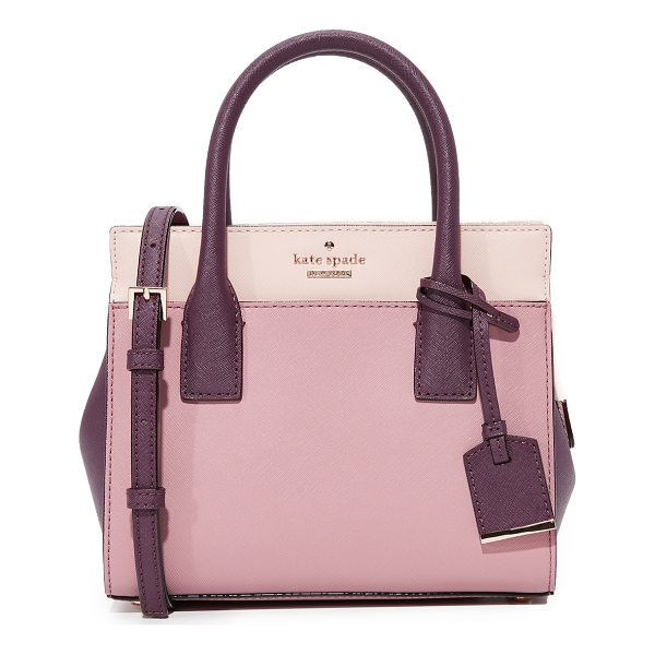 KATE SPADE NEW YORK cameron street mini candace satchel - A colorblock leather Kate Spade New York bag in a...