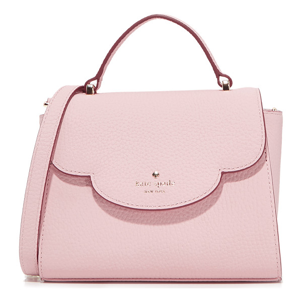 KATE SPADE NEW YORK mini makayla top handle satchel - A pebbled leather Kate Spade New York satchel with a