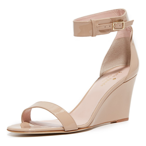 KATE SPADE NEW YORK ronia wedge sandals - Streamlined Kate Spade New York wedges in glossy patent...