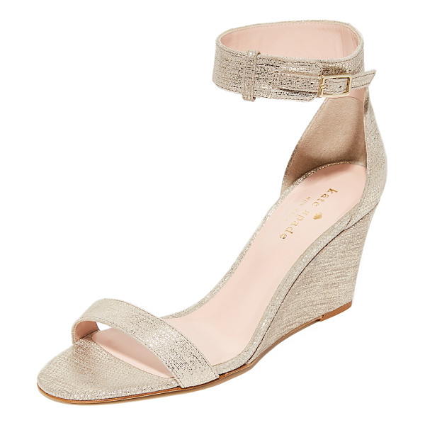 KATE SPADE NEW YORK ronia wedges - Kate Spade New York sandals, composed of shimmering...