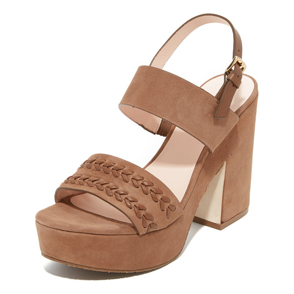 KATE SPADE NEW YORK Rosa sandals - Woven detailing accents the vamp on these luxe suede Kate