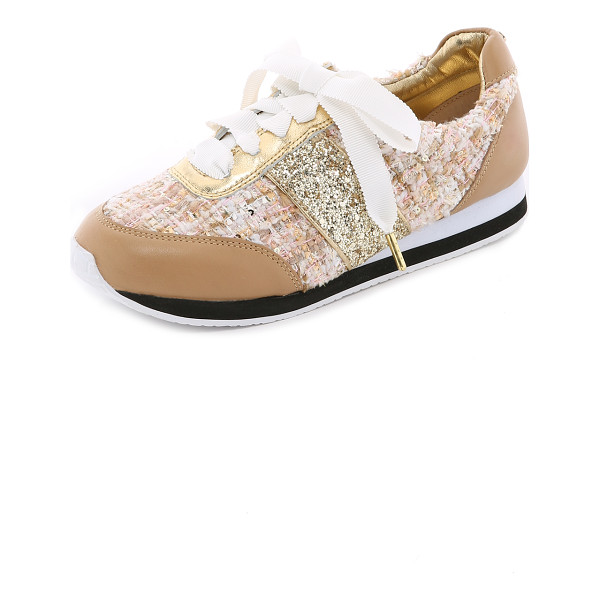 KATE SPADE NEW YORK Sidney tweed jogging sneakers - Playful Kate Spade New York sneakers in a mix of tweed,