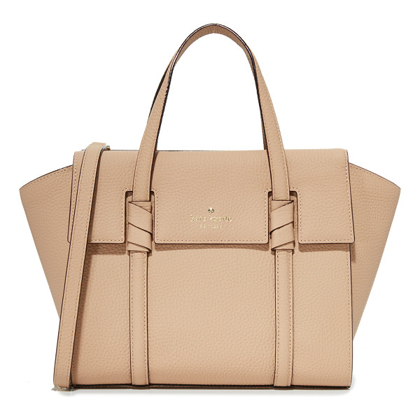 KATE SPADE NEW YORK daniels drive small abigail satchel - A pebbled-leather Kate Spade New York satchel detailed with...