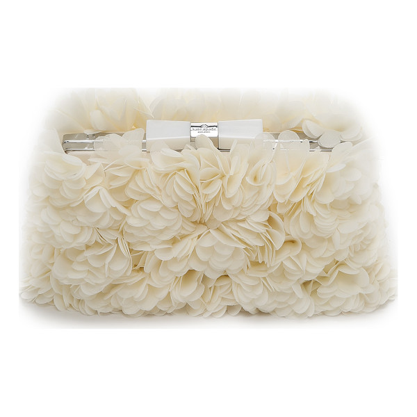 KATE SPADE NEW YORK Wedding belles flower minaudiere - Clusters of crepe flowers lend plush texture to this Kate...