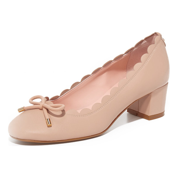 KATE SPADE NEW YORK yasmin pumps - A scalloped top line and petite bow add a feminine charm to...
