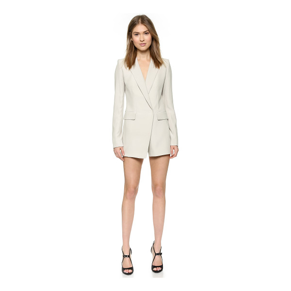 KAUFMAN FRANCO Silk blazer romper - A sophisticated silk Kaufman Franco romper effects a...