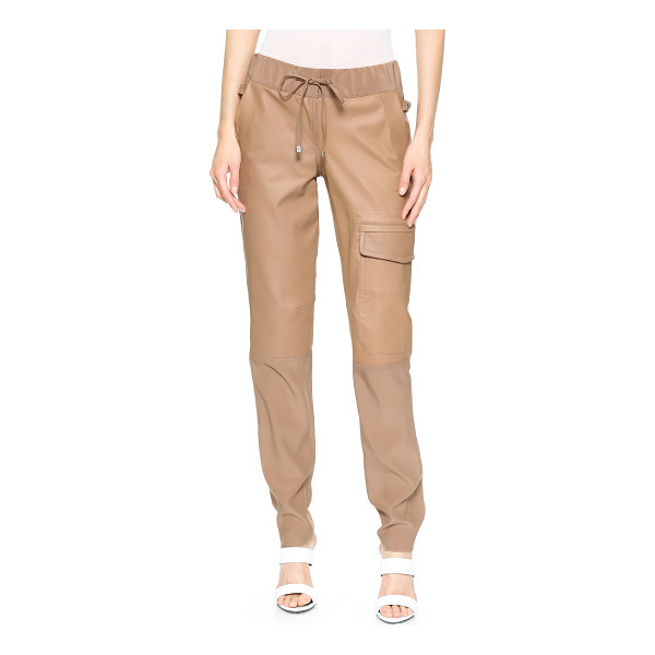 KAUFMAN FRANCO Silk & leather pants - Rich, tactile Kaufman Franco trousers in a luxe blend of...