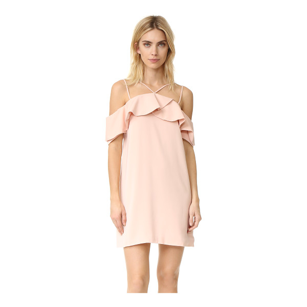 KEEPSAKE bittersweet mini dress - A draped ruffle trims the off-shoulder neckline of this...