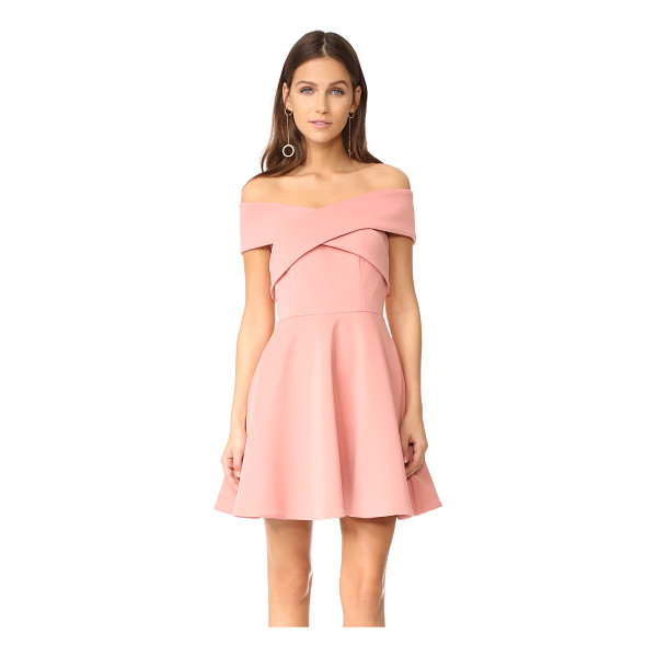 KEEPSAKE end of time mini dress - Wraparound panels form the off-shoulder neckline on this...