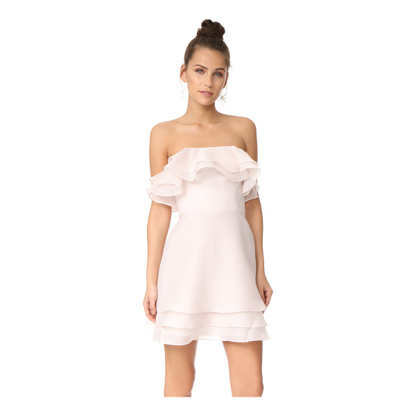 KEEPSAKE float mini dress - Layered ruffles add a delicate, airy feel to this strapless...
