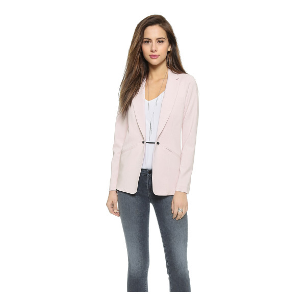 KEMPNER Barbell boyfriend blazer - Mesh panels lend a sporty touch to this slouchy Kempner...