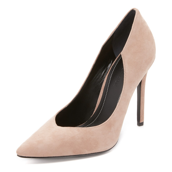 KENDALL + KYLIE Abi pumps - Pointed toe KENDALL + KYLIE pumps in luxe suede. Scalloped...