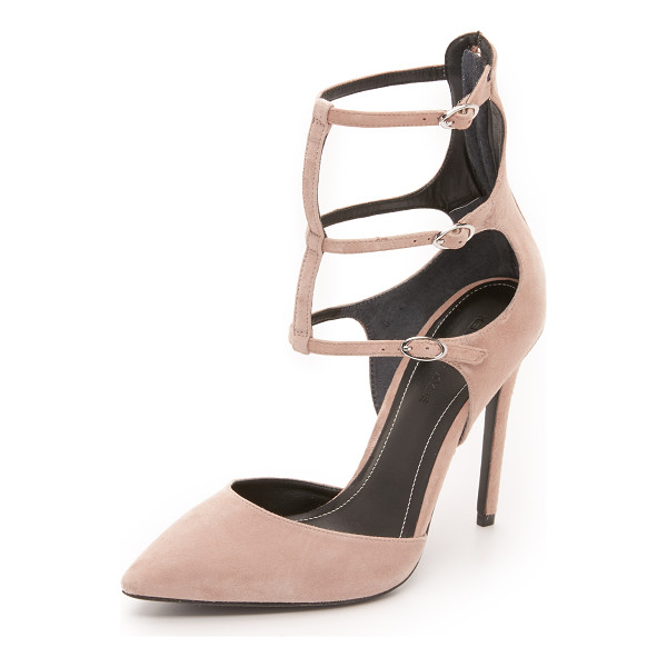 KENDALL + KYLIE Alisha pumps - Delicate buckled straps detail these suede, pointed toe...