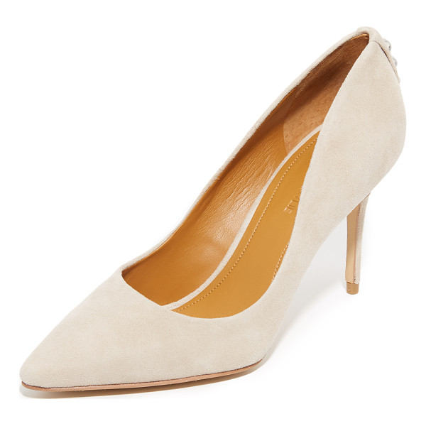 KENDALL + KYLIE britney pumps - Metallic heel accents add an edge to these suede, pointed...