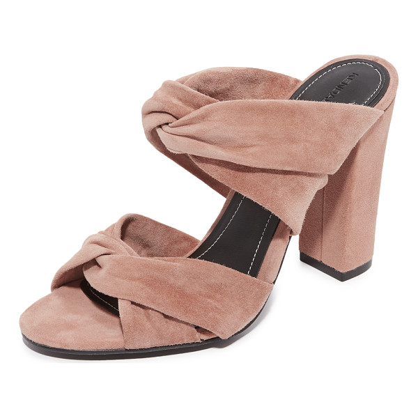 KENDALL + KYLIE demy heeled mules - Twisted suede straps lend rich texture to these KENDALL +...