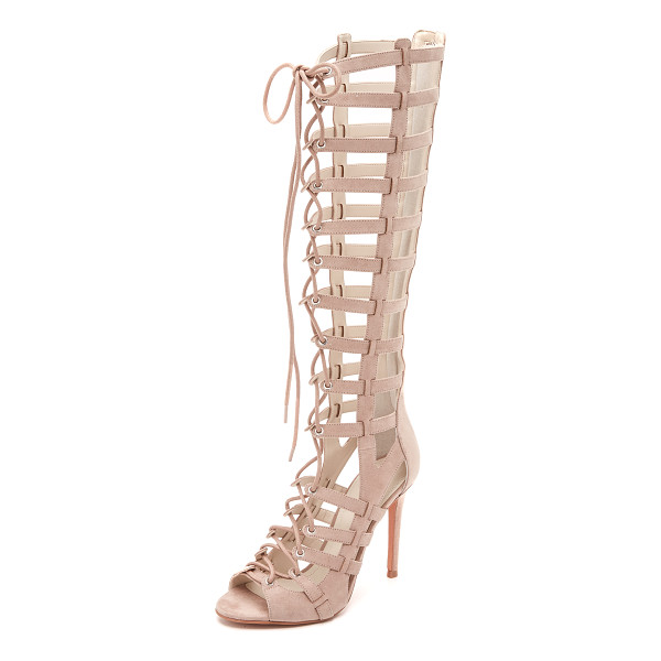 KENDALL + KYLIE Emily lace up sandals - Glamorous, faux suede KENDALL + KYLIE sandals in a knee...