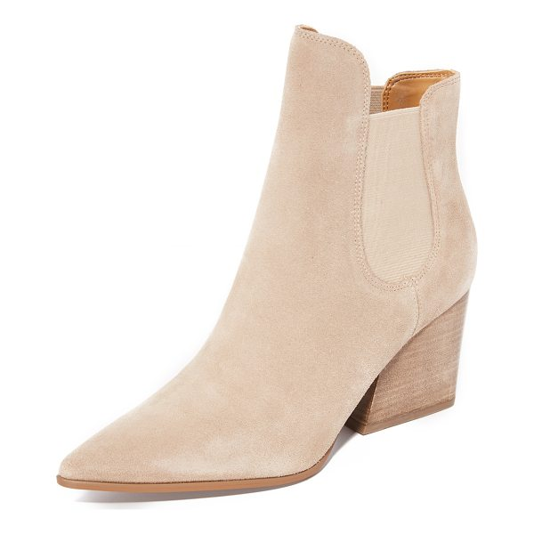 KENDALL + KYLIE finley booties - Suede KENDALL + KYLIE booties styled with a sculpted top...