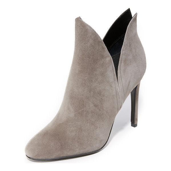 KENDALL + KYLIE Kendall + Kylie Madison Booties - Velvety suede KENDALL + KYLIE booties styled with a pointed...