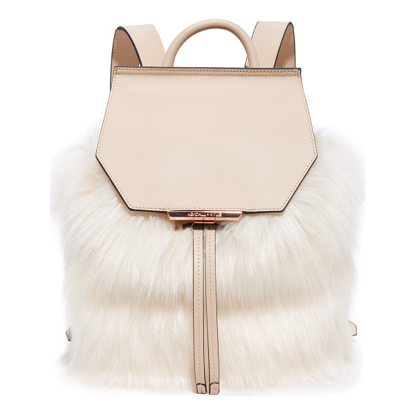 KENDALL + KYLIE nancy backpack - Sophisticated faux-fur cover this smooth leather KENDALL +