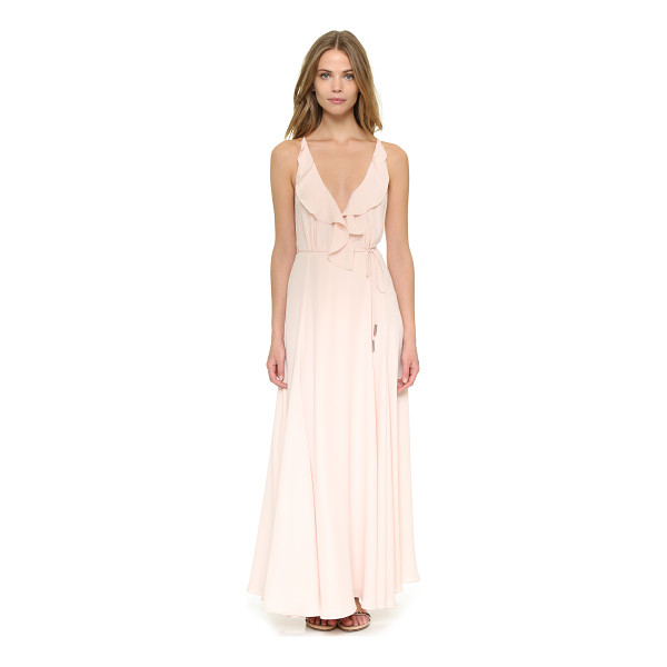 KENDALL + KYLIE Ruffle wrapped maxi dress - Layered crepe lends a romantic feel to this KENDALL + KYLIE...