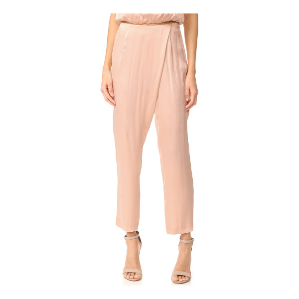 KENDALL + KYLIE silk draped trousers - Fluid silk KENDALL + KYLIE pants in a slouchy cut.