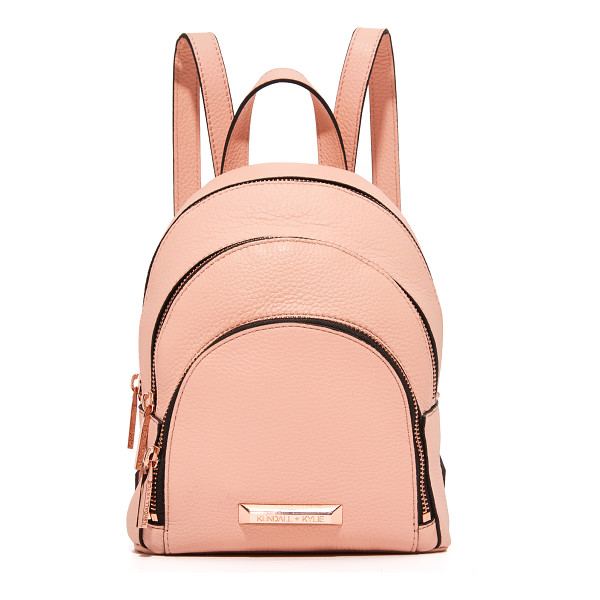 KENDALL + KYLIE sloane mini backpack - A petite, pebbled leather KENDALL + KYLIE backpack with a