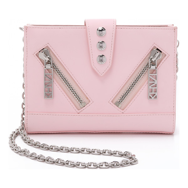 KENZO Kalifornia cross body bag - A sturdy, petite KENZO handbag with bold hits of hardware.