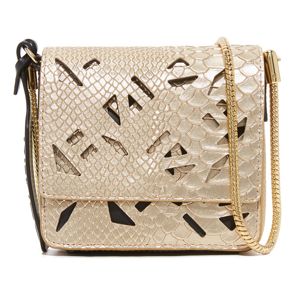 KENZO metallic croc bag - A petite KENZO bag in metallic, croc embossed leather.