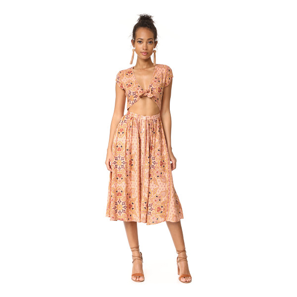 KNOT SISTERS park slope dress - A bohemian Knot Sisters dress with an alluring wrap bodice....