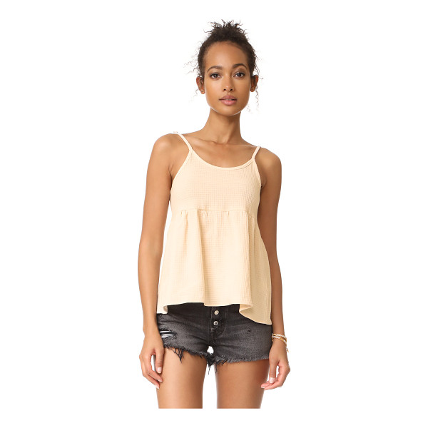 KNOT SISTERS zion top - A raised check motif covers this relaxed Knot Sisters top....