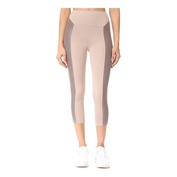 KORAL ACTIVEWEAR clementine high rise leggings - Lined side panels in soft mesh lend unique detail to these...
