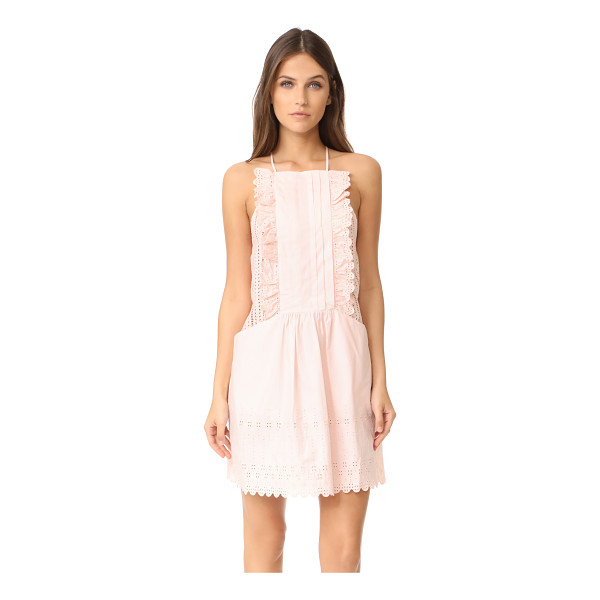 LA VIE BY REBECCA TAYLOR celsie eyelet dress - Tonal embroidery and ruffle trim bring feminine style to...