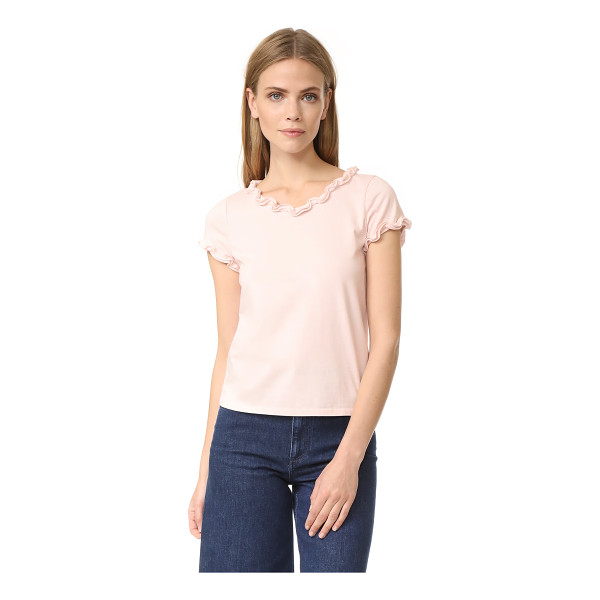 LA VIE BY REBECCA TAYLOR short sleeve ruffle tee - Ruffle trim lends feminine flair to this crew-neck La Vie...