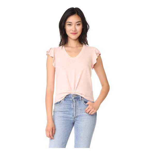 LA VIE BY REBECCA TAYLOR short sleeve washed textured jersey top - A gauzy, linen-blend jersey La Vie Rebecca Taylor tee with...
