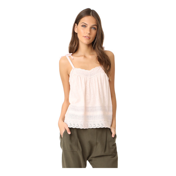 LA VIE BY REBECCA TAYLOR sleeveless lace cami - Lace trim brings delicate, graceful style to this La Vie...