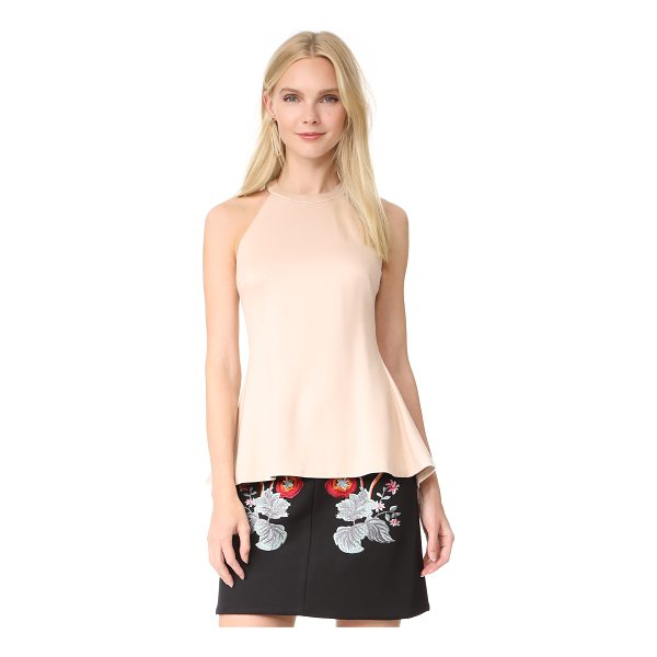 L'AGENCE batista sleeveless top - This formfitting ponte jersey top is finished with a...