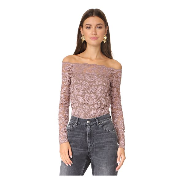 L'AGENCE heidi off shoulder lace top - An off-shoulder L'AGENCE blouse, composed of soft stretch...