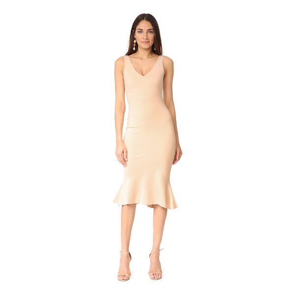 L'AGENCE lucia v neck dress - A simply cut L'AGENCE midi dress in a formfitting...