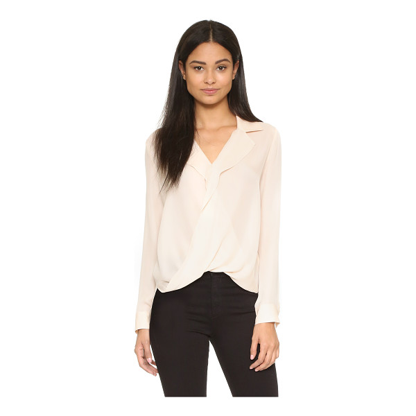 L'AGENCE Rita drape front blouse - A L'AGENCE silk shirt with a twisted front. Fold over...