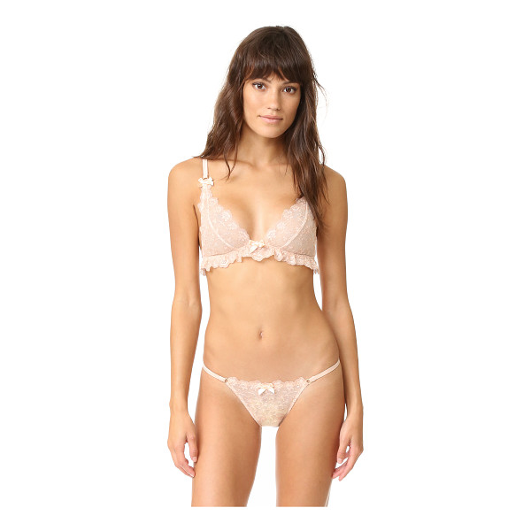 L'AGENT BY AGENT PROVOCATEUR Camilla soft cup bra - An embroidered mesh L'Agent by Agent Provocateur bra with...