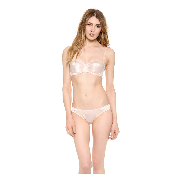 L'AGENT BY AGENT PROVOCATEUR penelope padded strapless bra - Structured seams create a classic look on a lustrous satin...