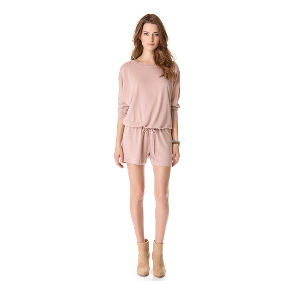 LANSTON Boyfriend romper - This slouchy French terry romper from Lanston is casual and...