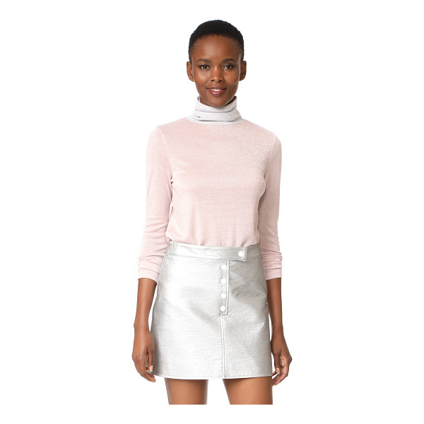 LIANA CLOTHING full high turtleneck pullover - Glittery jersey adds an eye-catching touch to this Liana...