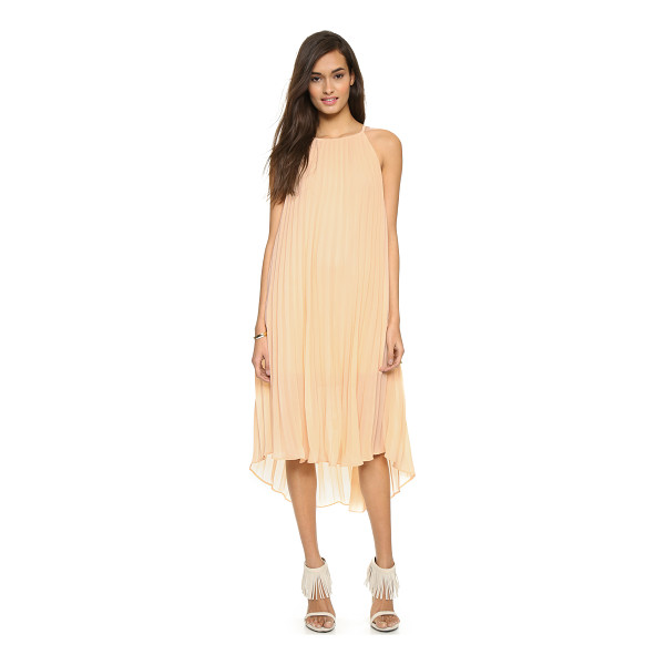 LINE & DOT Pleated midi dress - Exclusive to Shopbop. Accordion pleats lend volume to this...