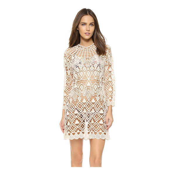 LISA MAREE Safe waters cover up - A Lisa Maree swim cover up in open crochet. Long sleeves....