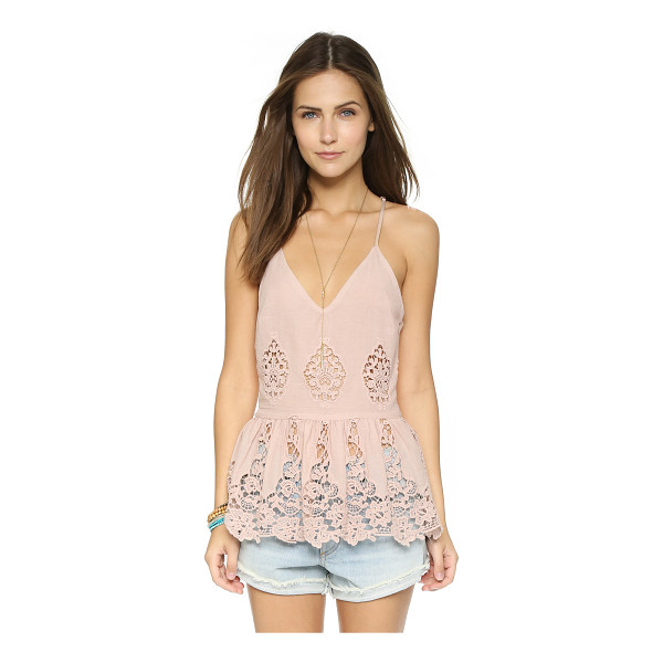 LIV Alexa peplum camisole - This romantic LIV tank is cut from airy material and...
