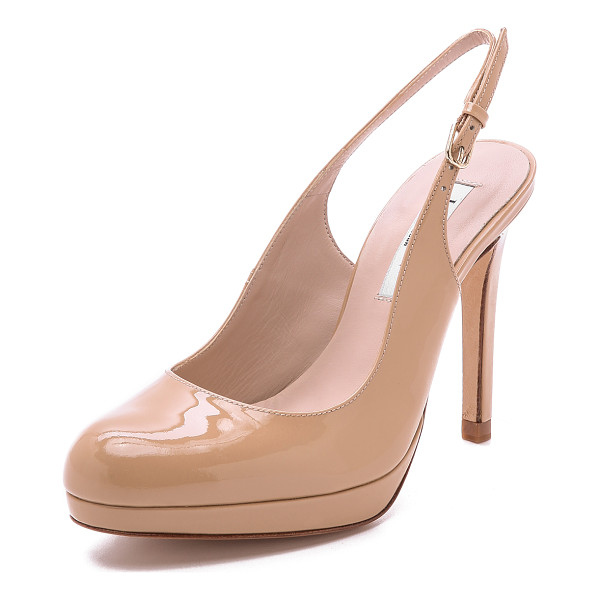 L.K. BENNETT Clemmie platform slingback - A bump toe softens the silhouette of patent leather L.K.